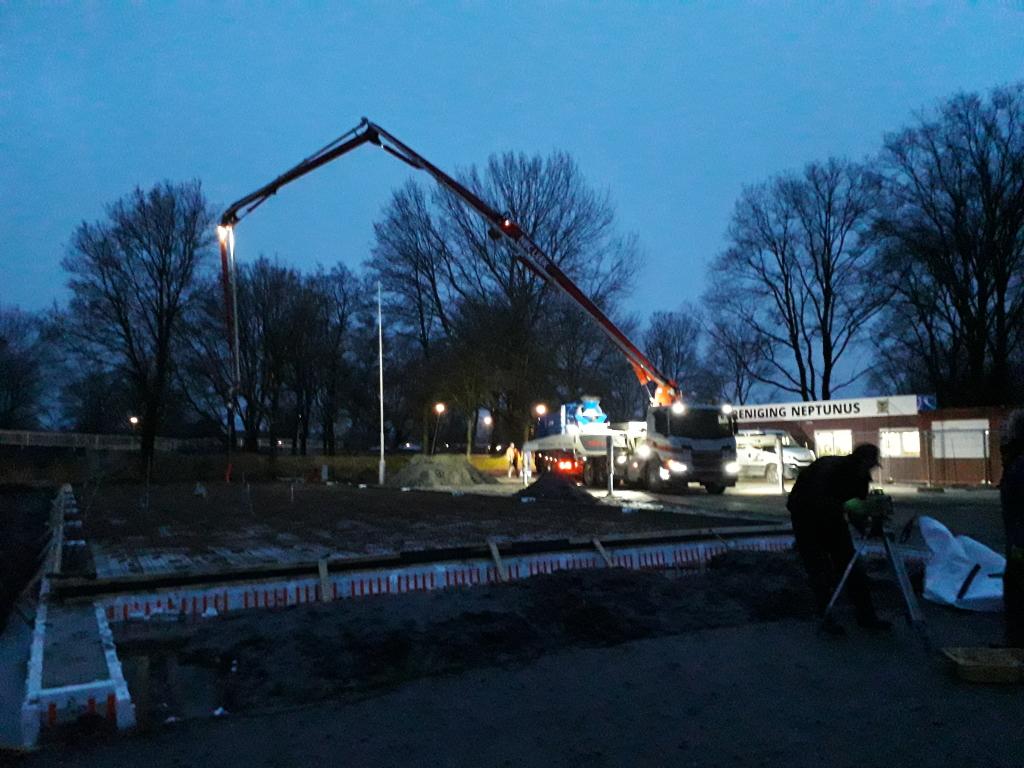 Beton storten op 7 februari